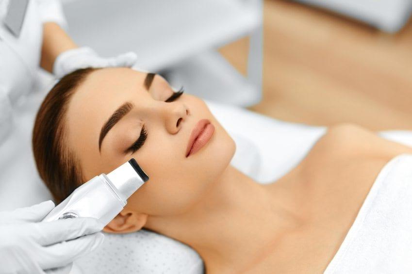 Woman undergoing a skin peel