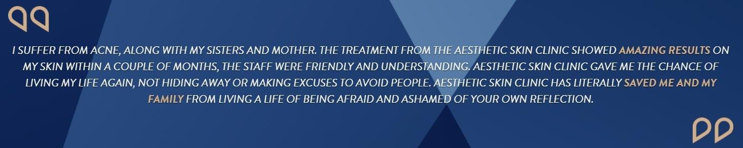 Askin Testimonial - Acne