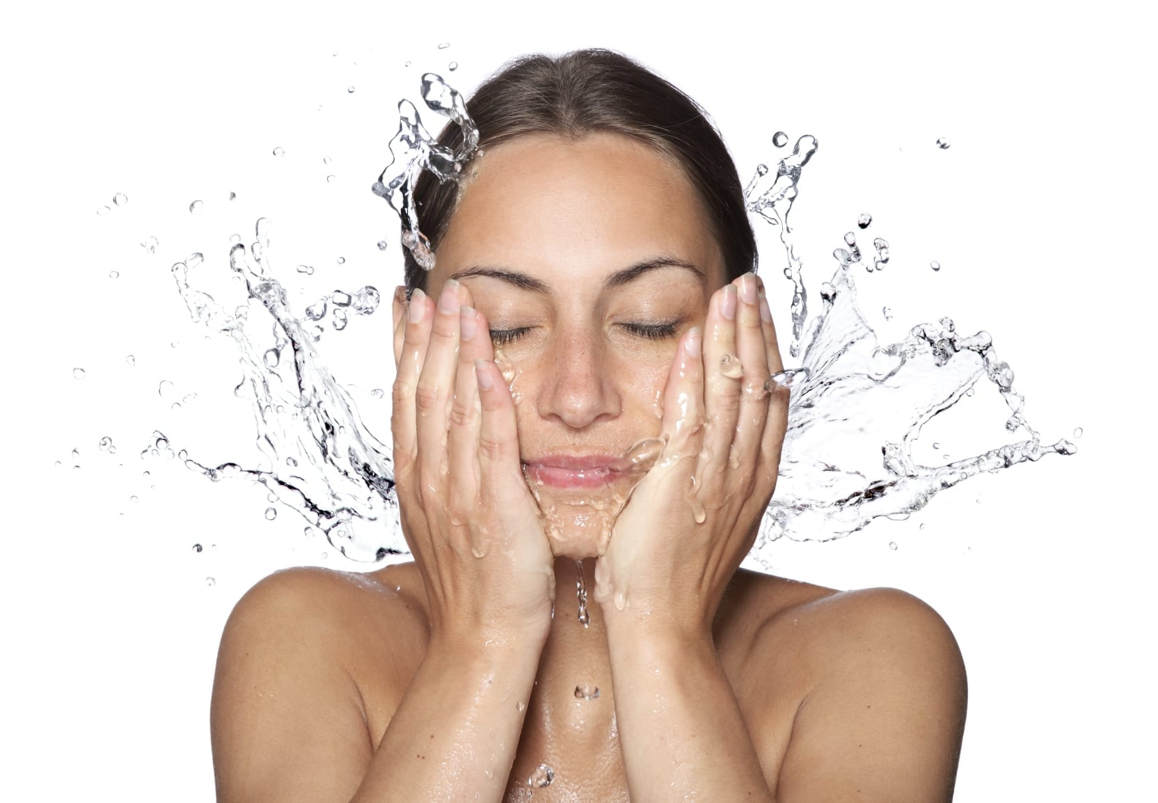 Woman Hydrating Skin