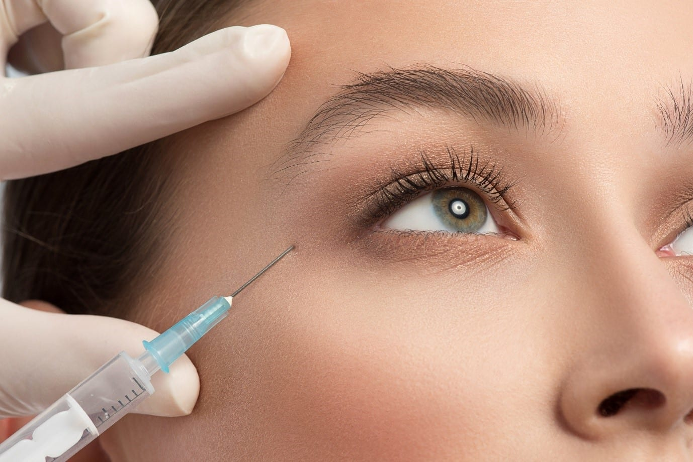 A Beautiful Woman Getting Anti-Wrinkle Injections