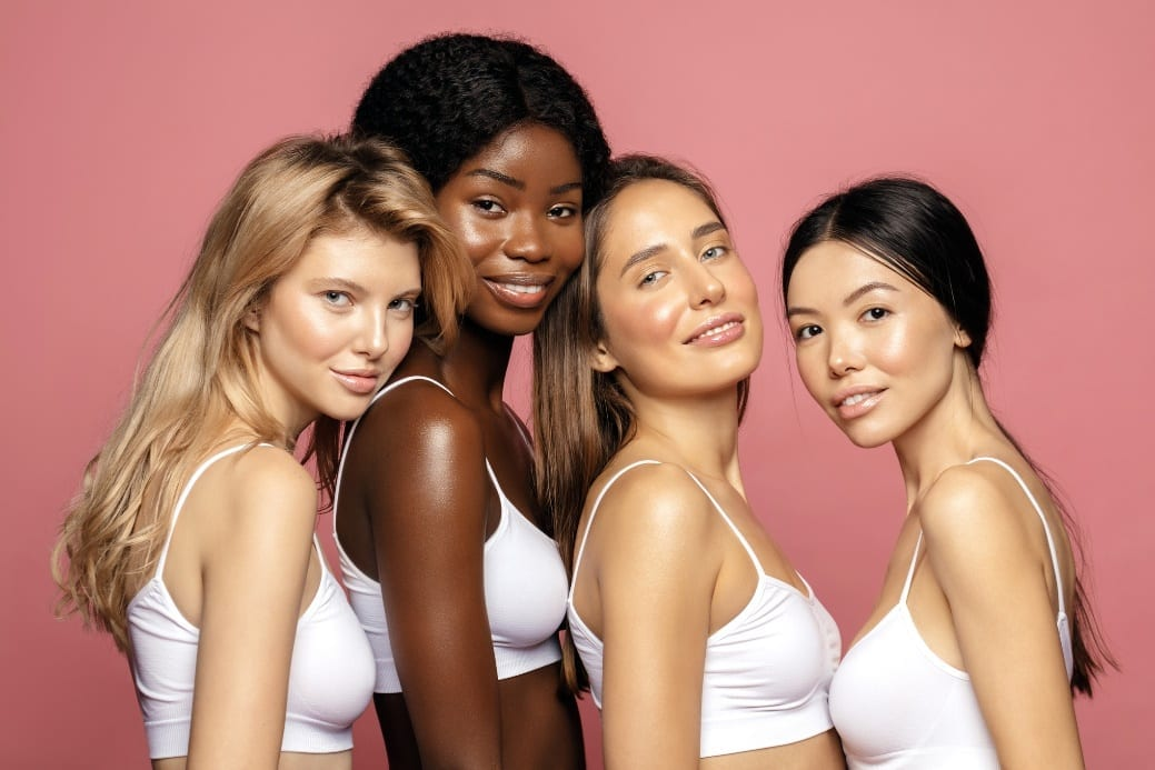 women with beautiful skin