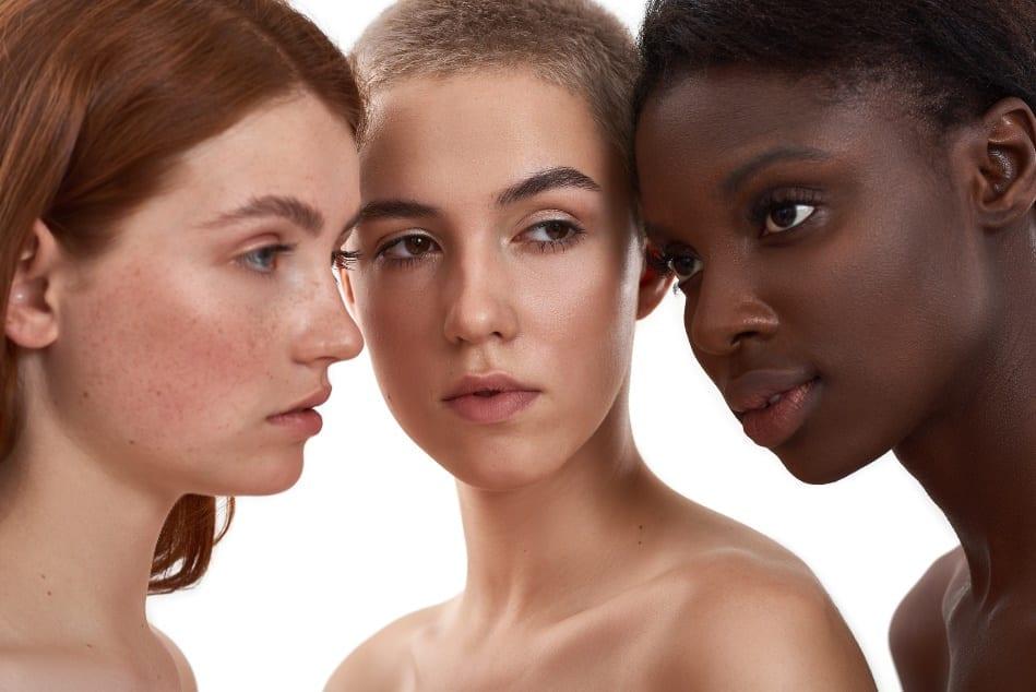 women with different skintones