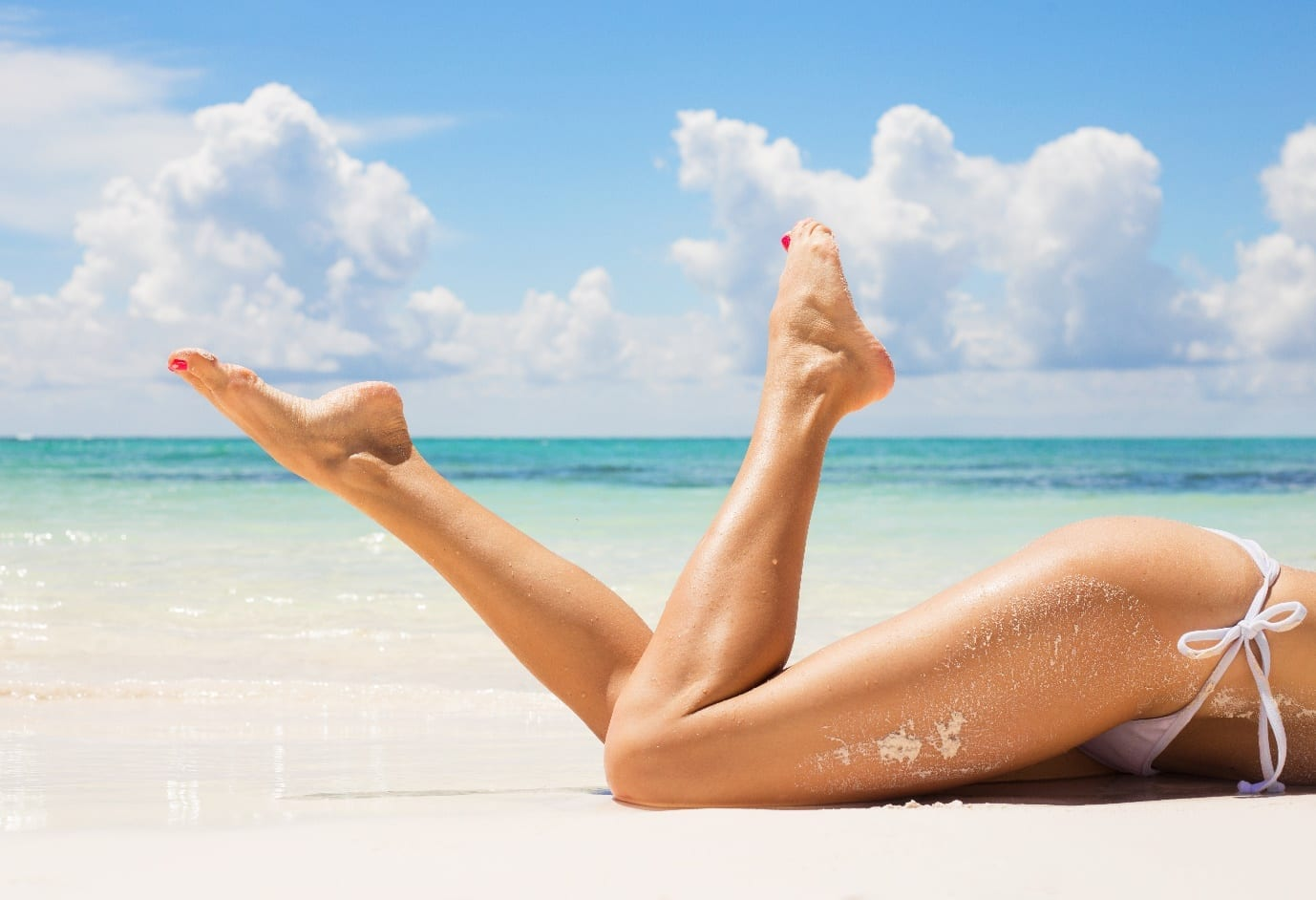 hair removal on woman's legs