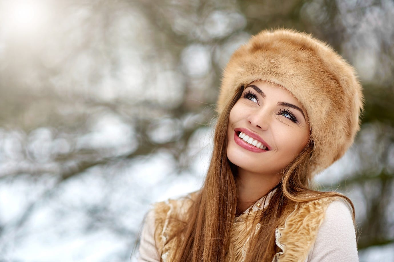 beautiful skin in winter