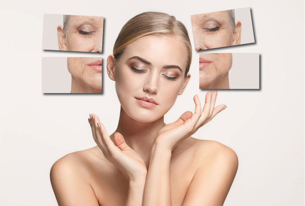 Anti-ageing woman in her 20s